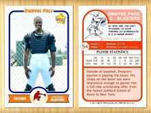 77 Customize Baseball Trading Card Template For Word Formating by Baseball Trading Card Template For Word