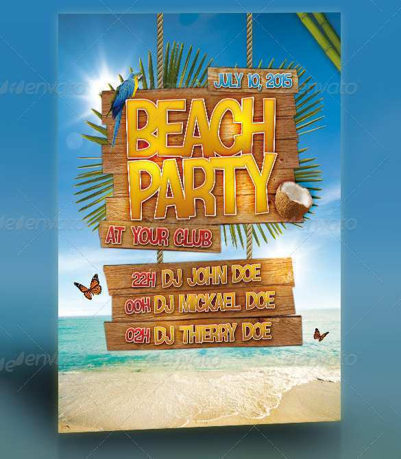 77 Customize Beach Party Flyer Template Free Psd Maker by Beach Party Flyer Template Free Psd