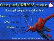 77 Customize Birthday Card Template Spiderman Download with Birthday Card Template Spiderman