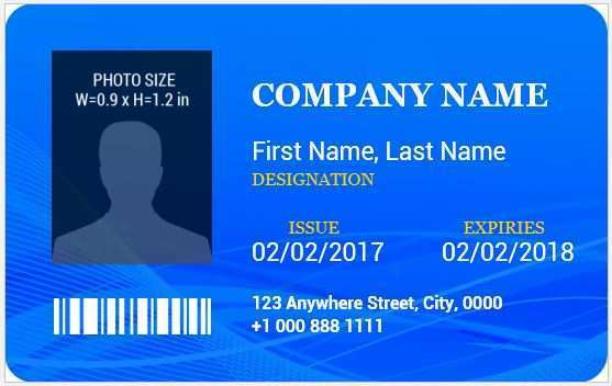 77 Customize Id Card Template For Word Download by Id Card Template For Word