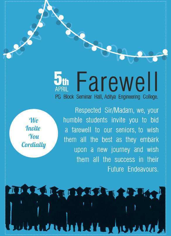 77 Customize Our Free Free Farewell Invitation Card Templates Maker by Free Farewell Invitation Card Templates
