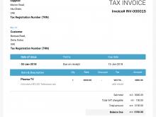 Vat Tax Invoice Template Uae