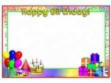 77 Free Birthday Card Templates Sparklebox Photo for Birthday Card Templates Sparklebox