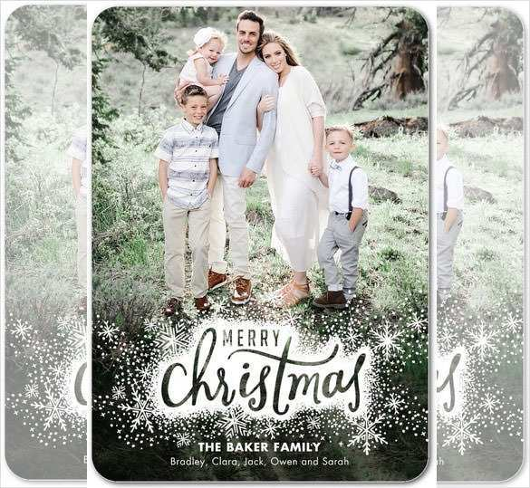 free christmas card templates for photographers