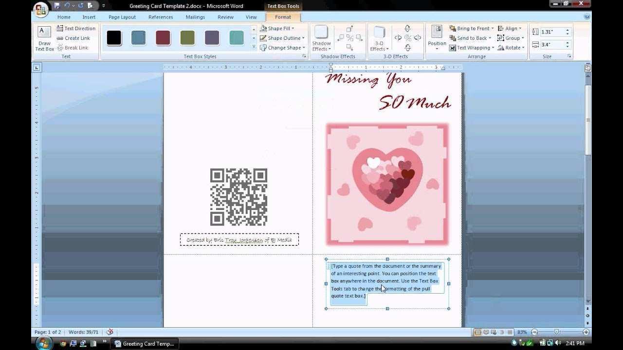 77 Online Create A Card Template In Microsoft Word Now for Create A Card Template In Microsoft Word