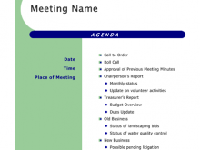 77 Online Meeting Agenda Template Ppt Free For Free for Meeting Agenda Template Ppt Free