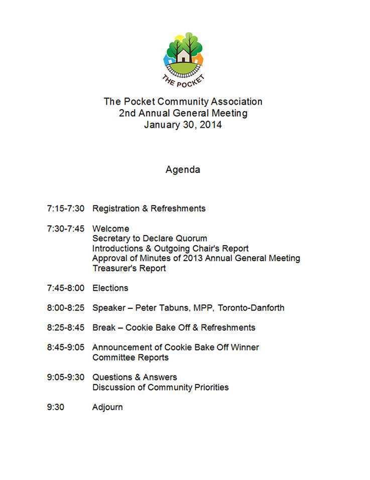 77 Printable Agm Agenda Template Canada for Agm Agenda Template Canada