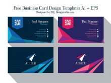 Adobe Illustrator Business Card Template With Bleed