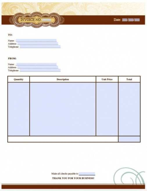 77 The Best Artist Invoice Template Pdf With Stunning Design by Artist Invoice Template Pdf