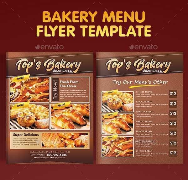77 The Best Bakery Flyer Templates Free With Stunning Design with Bakery Flyer Templates Free