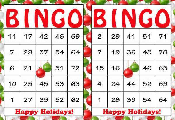 77 The Best Christmas Bingo Card Template in Photoshop by Christmas Bingo Card Template