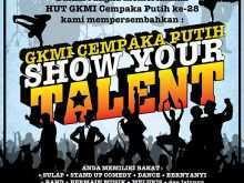 77 The Best School Talent Show Flyer Template With Stunning Design by School Talent Show Flyer Template
