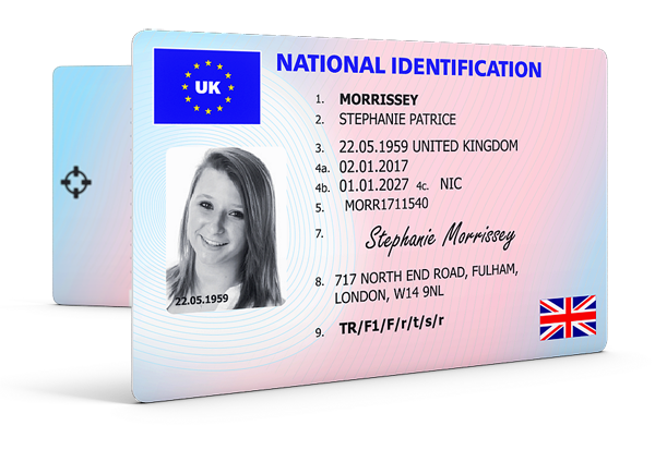 77 The Best Us National Id Card Template Layouts for Us