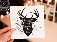 Rudolph Christmas Card Template