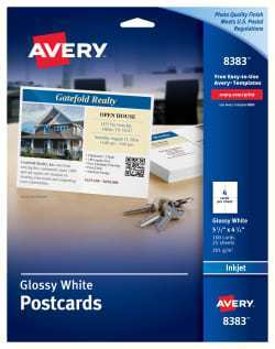 78 Best Avery Postcard Template 8383 Layouts for Avery Postcard Template 8383