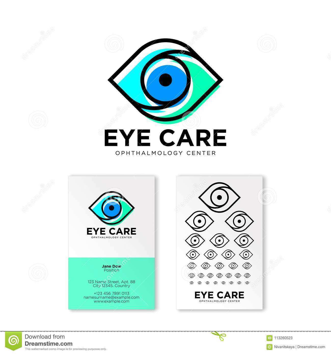 78 Blank Business Card Template Eye Formating with Business Card Template Eye