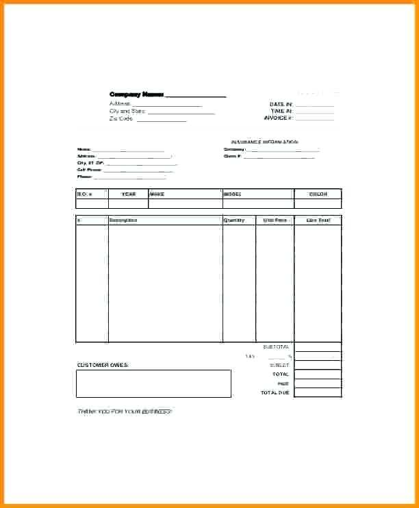 78 Body Repair Invoice Template With Stunning Design with Body Repair Invoice Template