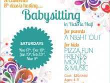 78 Creative Babysitting Flyers Templates For Free with Babysitting Flyers Templates