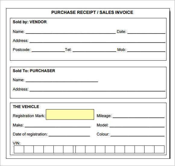 78 Customize Blank Receipt Template Pdf With Stunning Design for Blank Receipt Template Pdf