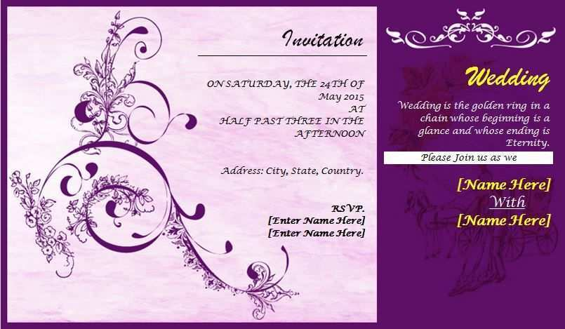 78 Customize Our Free Word Invitation Card Templates Maker for Word Invitation Card Templates