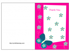 Free Printable Graduation Thank You Card Template