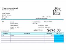 78 Free Printable House Repair Invoice Template Download for House Repair Invoice Template