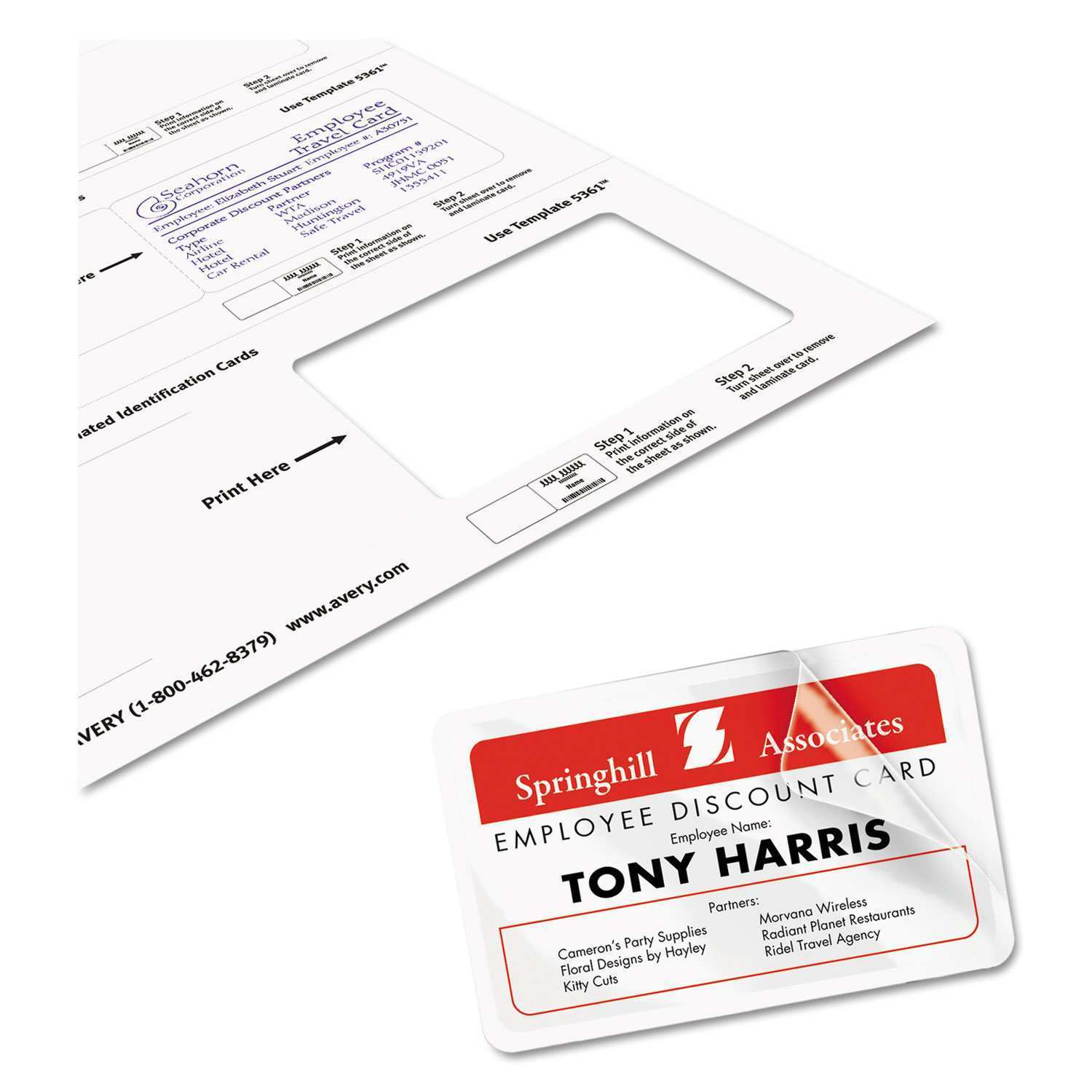 78 How To Create Avery Laminated Id Card Template With Stunning Design with Avery Laminated Id Card Template