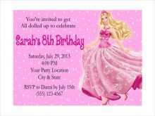 78 Printable Birthday Card Template Barbie Layouts with Birthday Card Template Barbie