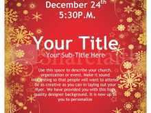 78 Printable Free Christmas Flyer Templates for Ms Word for Free Christmas Flyer Templates