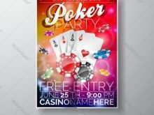 Poker Tournament Flyer Template Word