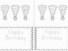 Quarter Fold Birthday Card Template Free