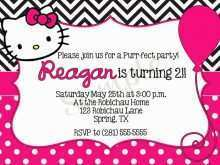 78 Visiting Birthday Invitation Card Template Hello Kitty Formating by Birthday Invitation Card Template Hello Kitty