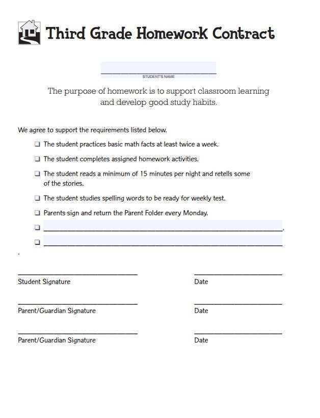 79 Adding 4Th Grade Homework Agenda Template Now by 4Th Grade Homework Agenda Template