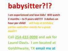 79 Adding Babysitting Flyer Templates Free Formating for Babysitting Flyer Templates Free