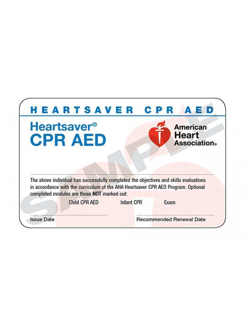21 Create Aha 21 Card Template With Stunning Design by Aha 21 Card Inside Cpr Card Template