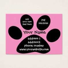 79 Create Business Card Template Paw Print by Business Card Template Paw Print