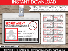 79 Customize Our Free Astronaut Id Card Template Photo by Astronaut Id Card Template