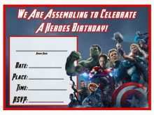 79 Customize Our Free Birthday Card Template Avengers For Free by Birthday Card Template Avengers