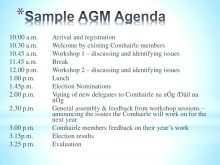 Sample Agm Agenda Template