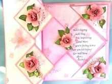 Rose Pop Up Card Template Download