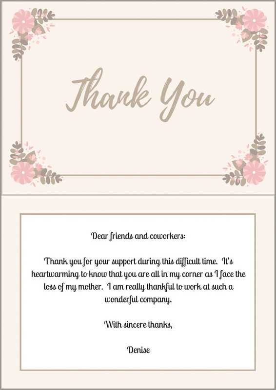 Late Thank You Card Template - Cards Design Templates