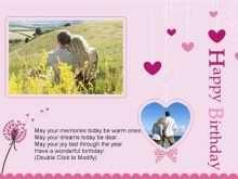 Birthday Card Love Template