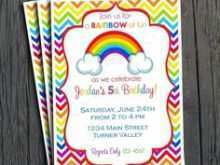 Rainbow Birthday Card Template