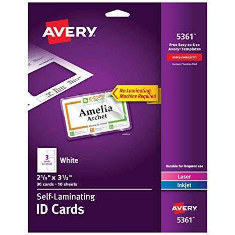 79 How To Create Avery Laminated Id Card Template Templates by Avery Laminated Id Card Template
