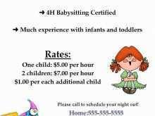 79 Report Babysitting Flyer Templates Free PSD File by Babysitting Flyer Templates Free