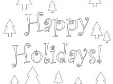 79 Visiting Holiday Card Coloring Templates Photo with Holiday Card Coloring Templates