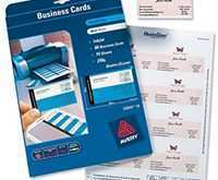 80 Blank Avery Business Card Template C32011 Photo with Avery Business Card Template C32011