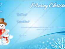Christmas Gift Card Template Microsoft Word
