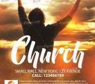 80 Creative Church Flyer Design Templates PSD File with Church Flyer Design Templates