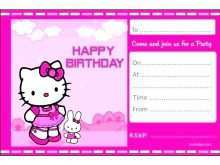 Birthday Card Template Hello Kitty